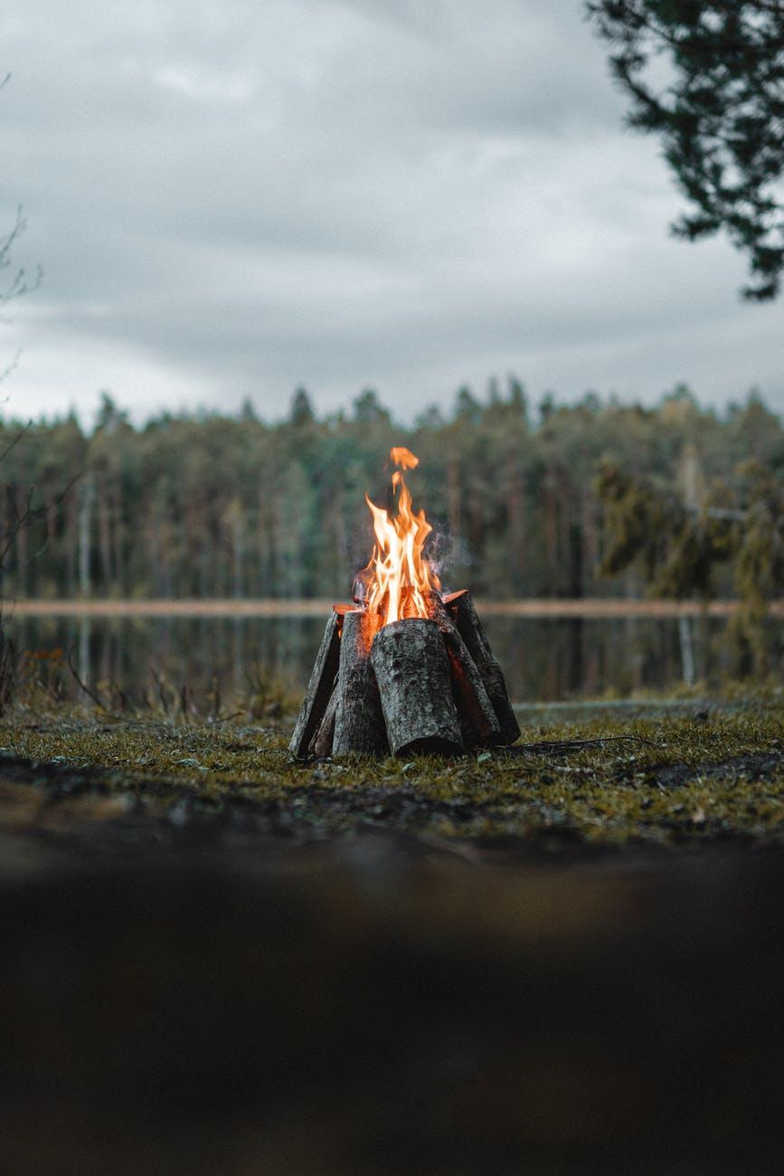 bonfire on green grass field