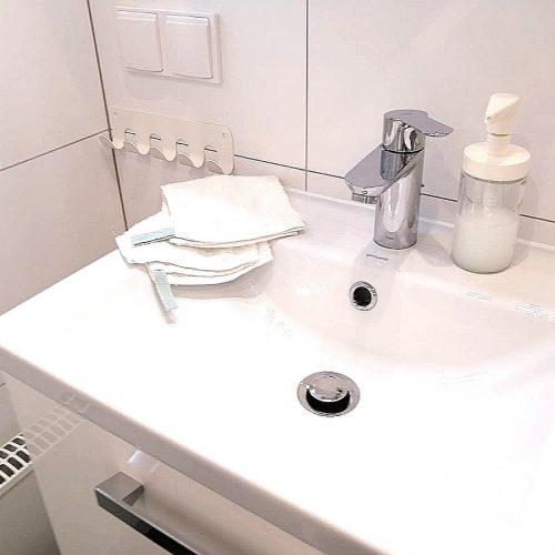 Badezimmer in der Tinylodge
